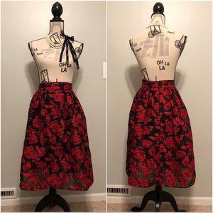 New York & Company Eva Mendes Black & Red Skirt